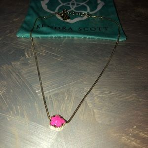 Kendra Scott Magenta Tess Necklace